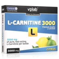 Vplab L-Carnitine 3000 Карнитин цитрус 25 мл ампулы 7 шт.