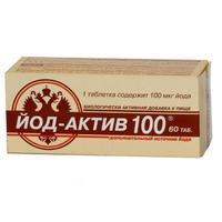 Йод-актив 100 таблетки, 60 шт.