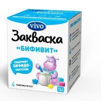Закваска vivo бифивит флаконы 500 мг, 4 шт.