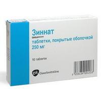 Зиннат таблетки 250 мг, 10 шт.