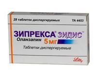 Зипрекса Зидис таблетки 5 мг, 28 шт.