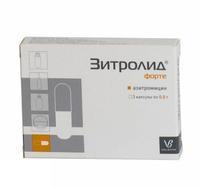 Зитролид капсулы 500 мг, 3 шт.