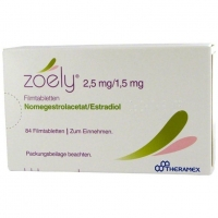 Зоэли таблетки покрыт.плен.об. 2,5 мг + 1,5 мг 84 шт.