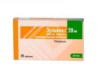 Зульбекс таблетки 20 мг, 28 шт.
